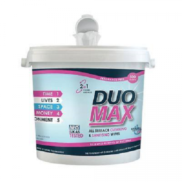DUOMAX WIPES 500