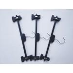 Black Plastic Skirt Hanger with Sliding Clips (275pcs)
