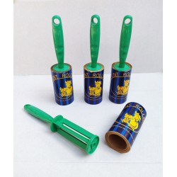 Lint Rolls with green handle - 5M brown