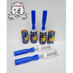 Lint Rolls with  blue  handle - 5M brown