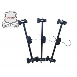Black Plastic Skirt Hanger with Sliding Clips (275pcs)