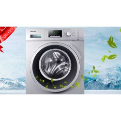 HISENSE 8KG WHITE WASHING MACHINE WFP8014V 15 Minutes Super Quick Wash