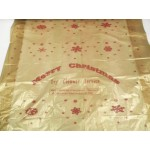"Polythene Roll - 1 side gold  red snow printed 1 side clear   - 40""/54"""